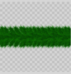detailed seamless christmas garland of fir vector image
