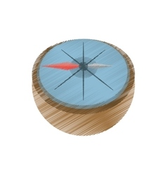 Drawing compass marine localization tool vector