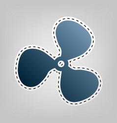 fan sign blue icon with outline for vector image vector image