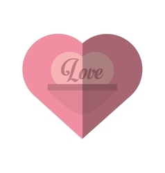 Love heart message valentines day card vector