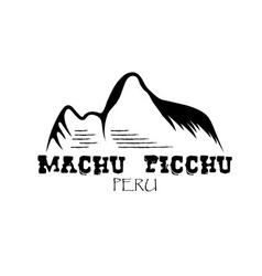 Machu picchu mountain of peru design template vector