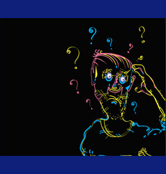 man scratching his head vector image vector image