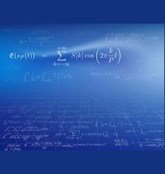 mathematics background vector image vector image