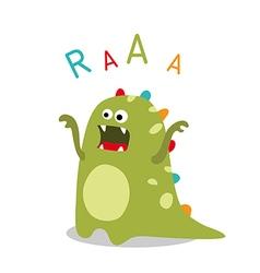 Roaring dinosaur vector