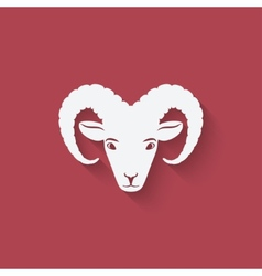 sheep head symbol vector image vector image