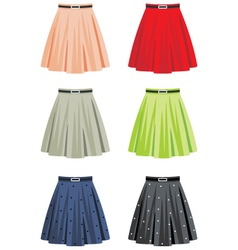 Skirts vector image vector image