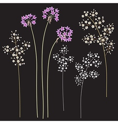 Small flowers set vector