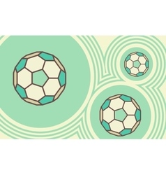 Soccer ball Sporty background vector image vector image