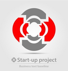 Start-up project business icon vector image vector image