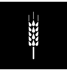 The spica icon Wheat symbol Flat vector image