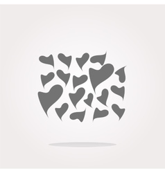 Valentine heart sign set web button vector image vector image