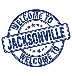 welcome to Jacksonville vector image vector image