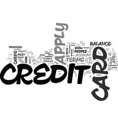 What do you need to know to apply for a credit vector
