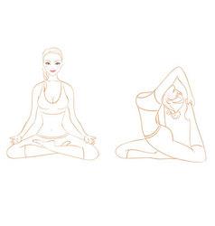 yoga woman vector image