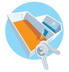 House keys with apartment vector image