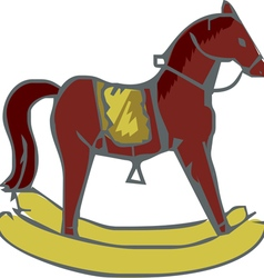 horse toy vector image