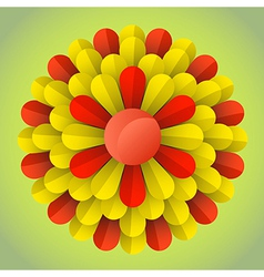abstract blossom flower vector image