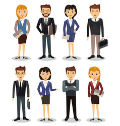 Business people group of office workers vector