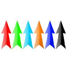 arrows colored set vector image