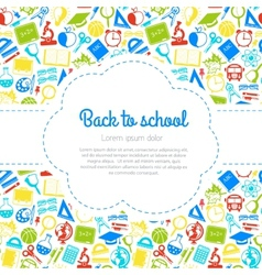 Back to school colorful background with space for vector