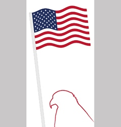 American flag and eagle shape outline vector