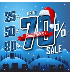 Christmas sale banner sales discount vector