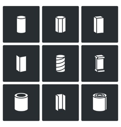 Metallurgical products icons set vector