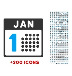 January first icon vector