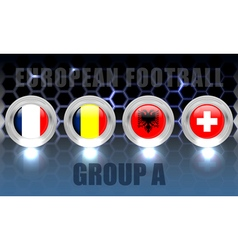 European football group a vector