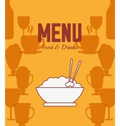 Menu and restaurant design vector
