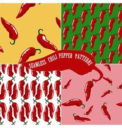 hot chili pattern vector image