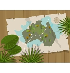 Jungle map australia cartoon adventure vector