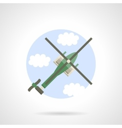 Reconnaissance helicopter flat color icon vector