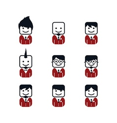 Man avatar with formal suit vector