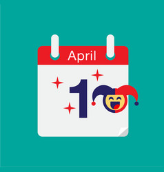 April fools day typography colorful flat vector