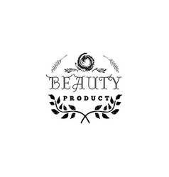 Badge for small businesses - beauty product salon vector