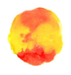 Bright orange and yellow watercolor blot vector
