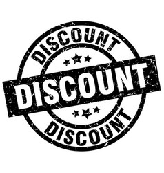 Discount round grunge black stamp vector