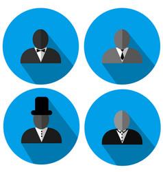 Gentlemen silhouette logo style vector