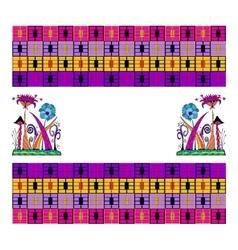Geometric seamless ethnic ornament vector image