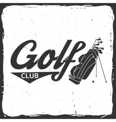 Golf club concept with golfing bag vector image vector image