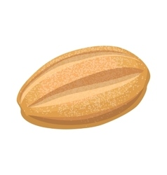 Grain loaf icon cartoon style vector