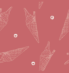 ice-cream cone seamless pattern vector image vector image