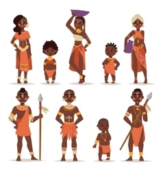 Maasai couple african people in traditional vector