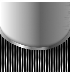 metal plate on stripes background vector image