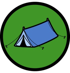 Pop up tent vector