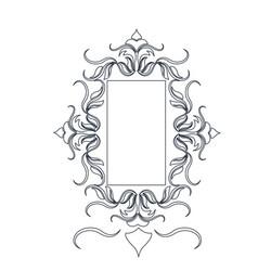 Rustic frame floral decoration crest object vector