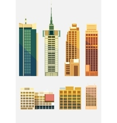 Set of City buildings vector image vector image