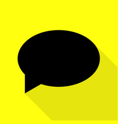 speech bubble icon black icon with flat style vector image