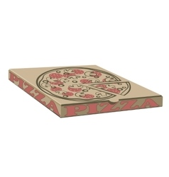 Stock design of boxes for pizza Box with vector image vector image